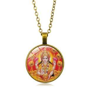 Jewelry - NWT Lakshmi Glass & Bronze Pendant Necklace